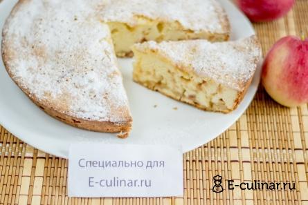Готовое блюдо Шарлотка с яблоками