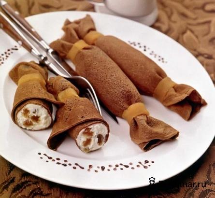 Готовое блюдо Шоколадные блинчики