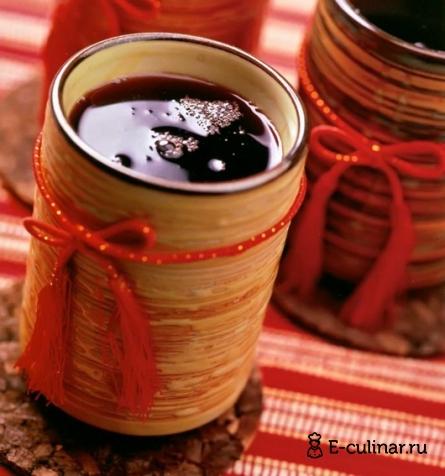 Готовое блюдо Горячий чай с вином и мёдом