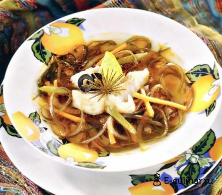 Готовое блюдо Ароматный суп из морской рыбы