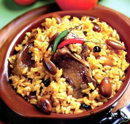 Готовое блюдо Плов из баранины с миндалем