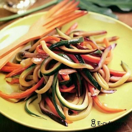 Готовое блюдо Вкуснейшие спагетти из овощей