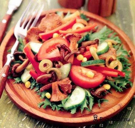 Готовое блюдо Салат грибной с овощами
