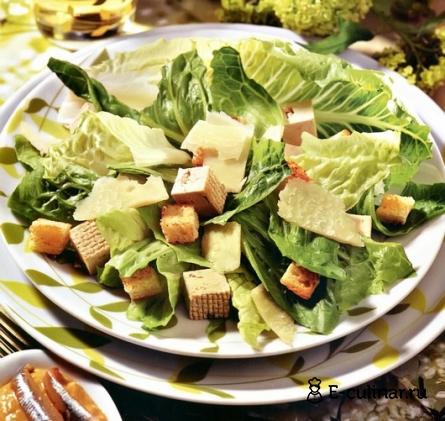 Готовое блюдо Салат «Цезарь» с тофу