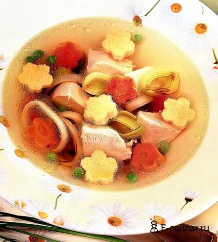 Готовое блюдо Супчик с омлетом из индюшки