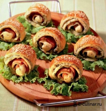 Готовое блюдо «Улитки» с окороком