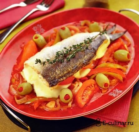 Готовое блюдо Рыба в овощном соусе