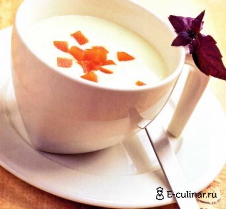 Готовое блюдо Суп-пюре из сельдерея с томатным желе