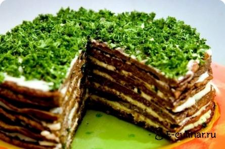 Готовое блюдо Печеночный тортик