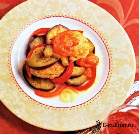 Готовое блюдо Биточки из кролика с овощами