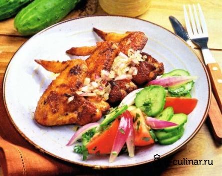 Готовое блюдо Острые куриные крылышки