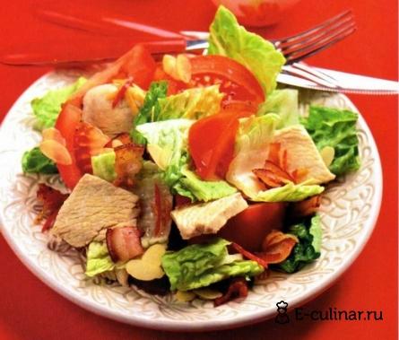 Готовое блюдо Теплый салат из индейки