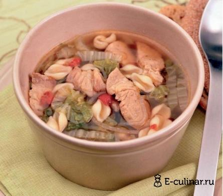 Готовое блюдо Пикантный суп с пекинской капустой