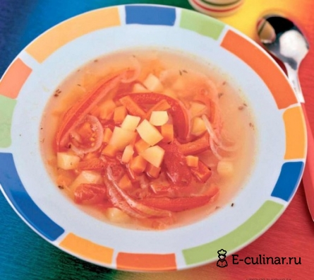 Готовое блюдо Суп из печеных овощей