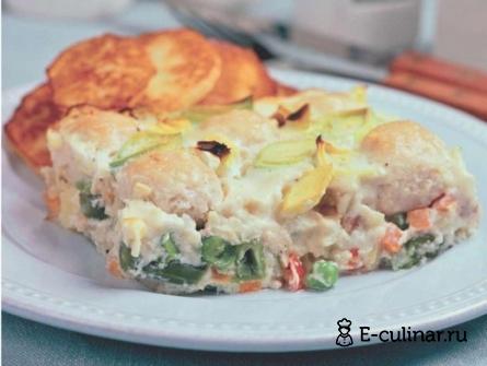 Готовое блюдо Запеканка с куриными фрикадельками