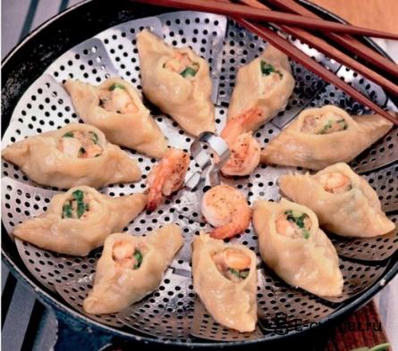 Готовое блюдо Пельмени с креветками и свининой