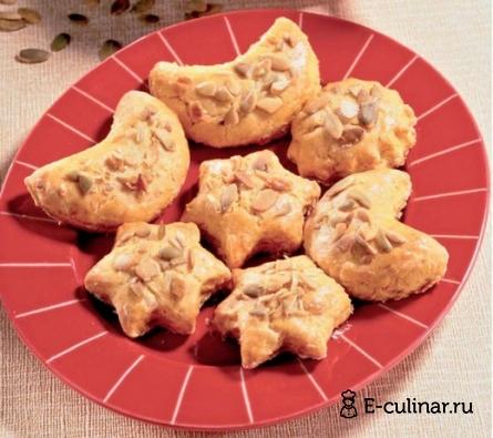Готовое блюдо Сырное печенье с тыквой и луком