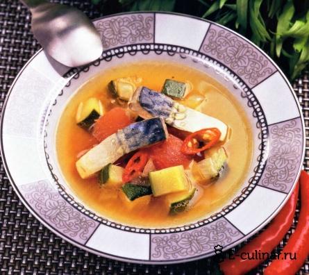 Готовое блюдо Суп из макрели