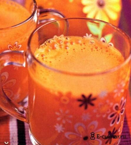 Готовое блюдо Напиток с ромашкой, морковью и апельсином