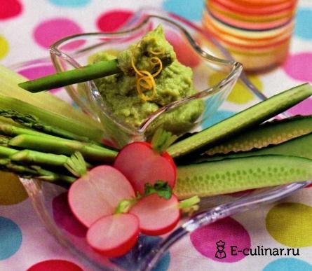 Готовое блюдо Крем из авокадо