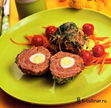 Готовое блюдо Мясные «кексы» с перепелиными яйцами