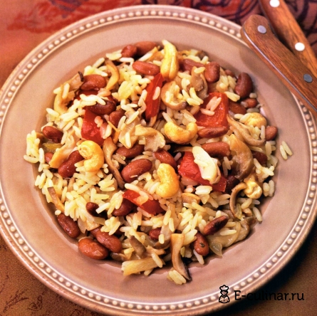 Готовое блюдо Рис с овощами