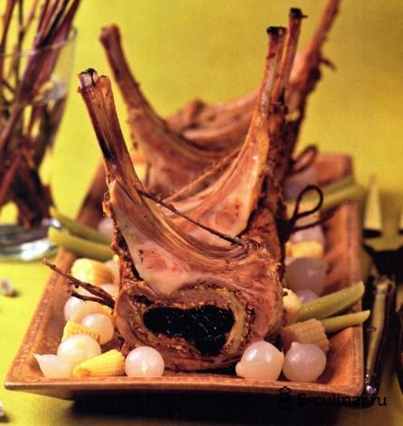 Готовое блюдо Фаршированная корейка ягненка
