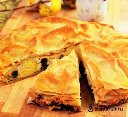 Готовое блюдо Пасхальный пирог