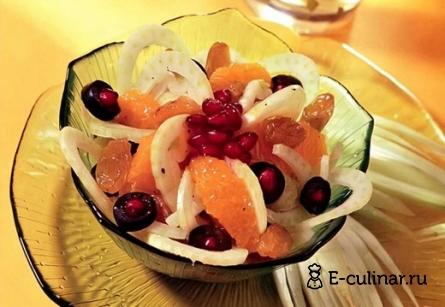 Готовое блюдо Праздничный апельсиновый салат