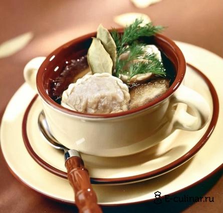 Готовое блюдо Бульон с колдунами