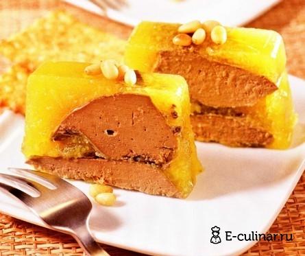 Готовое блюдо Террин из печенки индейки с персиками