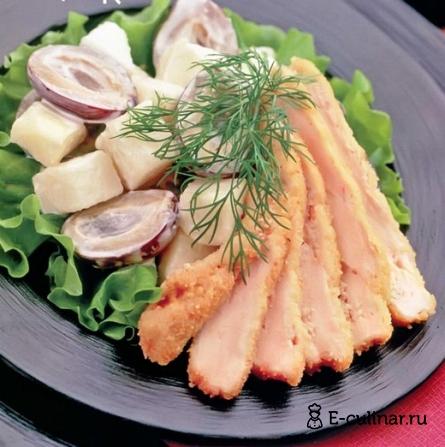 Готовое блюдо Фруктовый салат с курицей