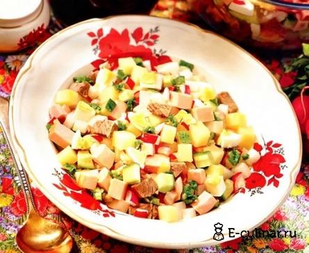 Готовое блюдо Окрошка