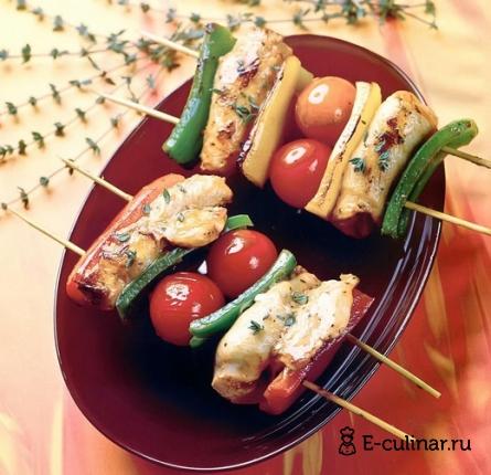 Готовое блюдо Шашлык из куриной грудки