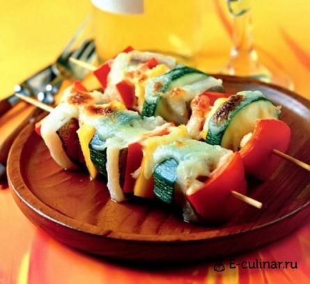 Готовое блюдо Шашлык из рыбы под сыром