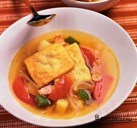 Готовое блюдо Венгерский суп с жареными лепешками