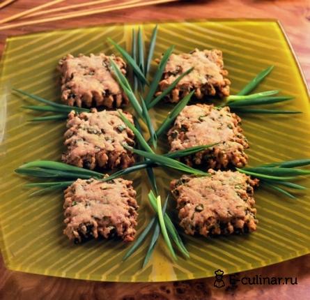 Готовое блюдо Печенье с отрубями и зеленым луком