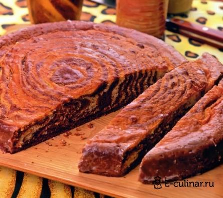 Готовое блюдо Пирог «Зебра»
