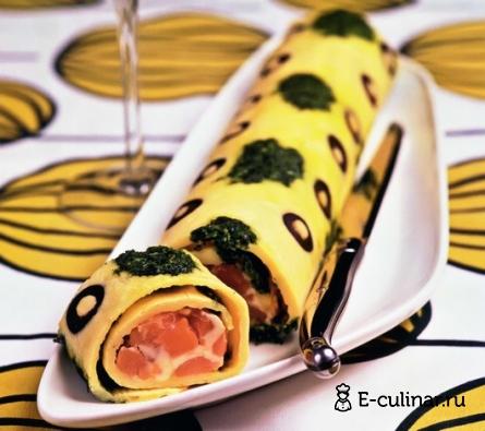 Готовое блюдо Закусочный омлет с маслинами