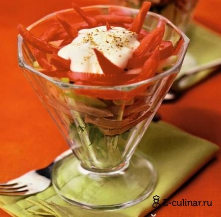 Готовое блюдо Салат коктейль с языком
