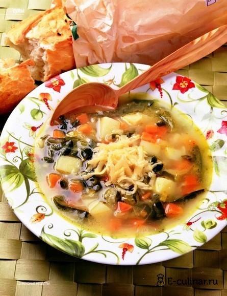 Готовое блюдо Овощной суп с сыром