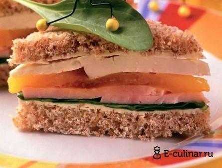 Готовое блюдо Слоеный бутерброд