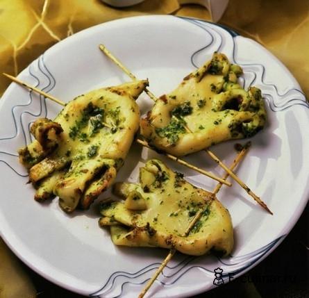 Готовое блюдо Жаренные маринованные кальмары