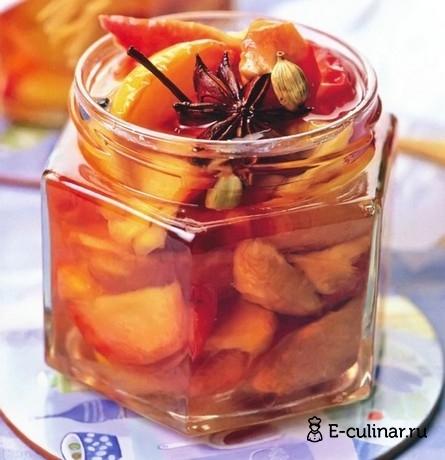 Готовое блюдо Персиковое варенье с пряностями