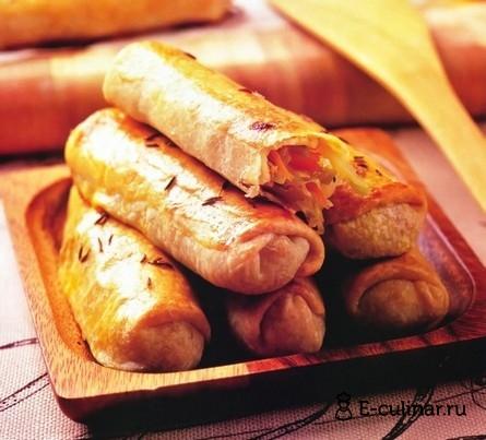 Готовое блюдо Пирожки-палочки с капустой
