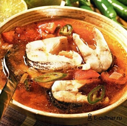 Готовое блюдо Мексиканский рыбный суп