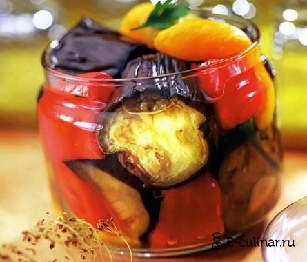 Готовое блюдо Баклажаны в маринаде