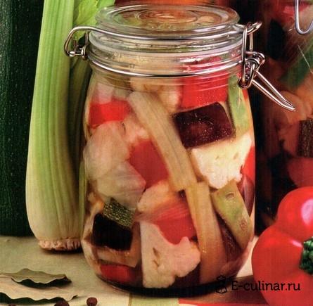 Готовое блюдо Овощное ассорти на зиму