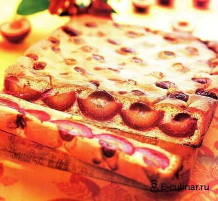 Готовое блюдо Сливовый пирог