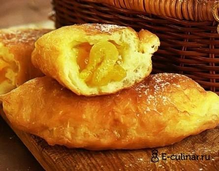 Готовое блюдо Пирожки с абрикосовым джемом и курагой